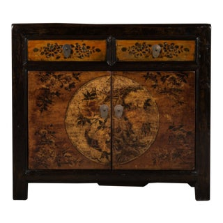 Chinese Lacquered Elm Cabinet For Sale