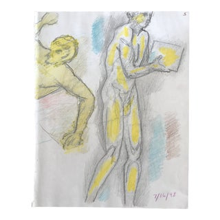 Male Nude Draw by James Bone, C. 1990s For Sale