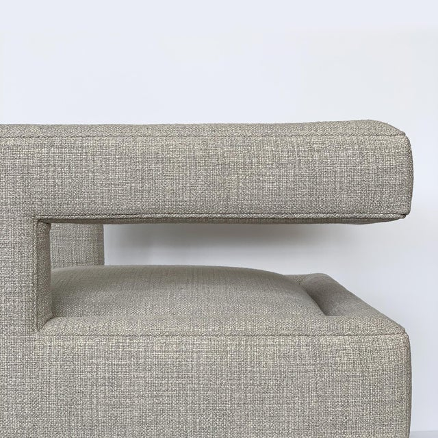 Milo Baughman Open Back Lounge Chairs - a Pair For Sale - Image 11 of 13
