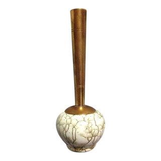Delft Holland Brass & Ceramic Bud Vase