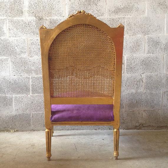 Antique Louis XVI Purple Chairs - A Pair - Image 5 of 6 - Antique Louis XVI Purple Chairs - A Pair Chairish