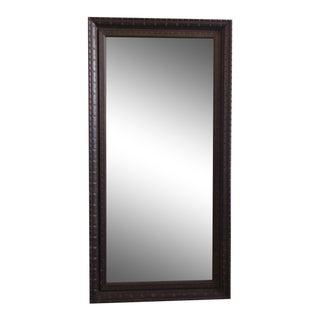 Vintage Carved Wooden Mirror For Sale