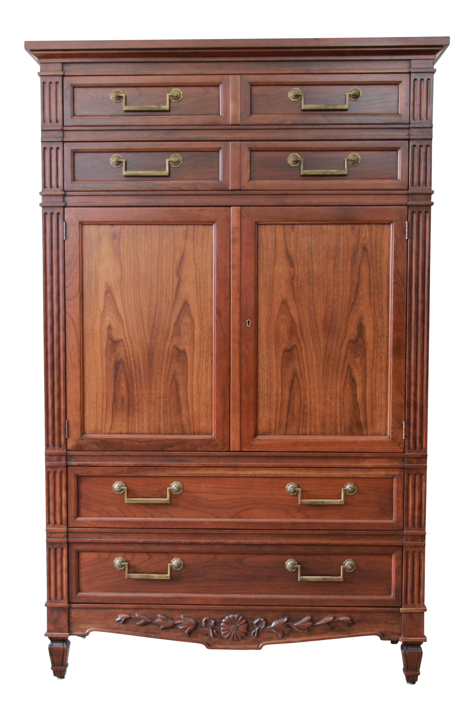 Genial Baker Furniture French Regency Style Cherry Wood Armoire Dresser Chest