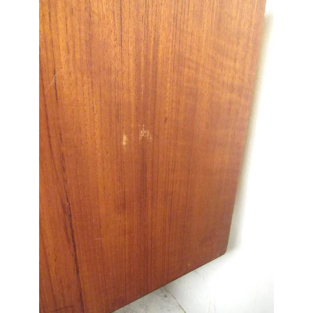 Scandinavian Modern Teak Sideboard or Television Console For Sale In New York - Image 6 of 9