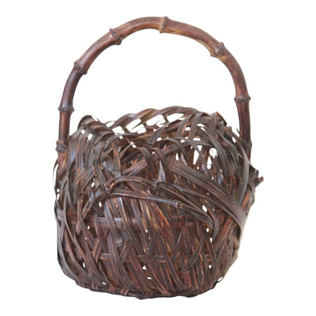 Japanese Woven Basket - Image 1 of 4