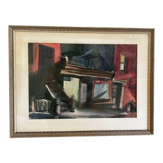 Robert Casper Brooklyn Stoop Signed Painting For Sale