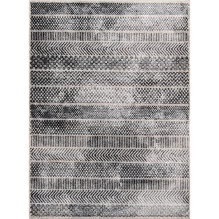 "Momeni Logan Isla Grey 9'3"" X 12'6"" Area Rug For Sale"
