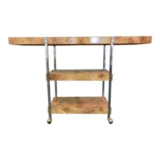 Mid-Century Three Level Console on Casters For Sale