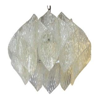 Mid-Century Modern Kalmar Style Pendant In Folded Acrylic For Sale