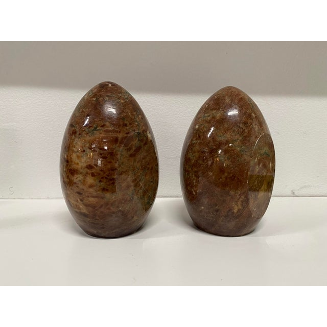 Italian Vintage Italian Marble Egg Bookends - a Pair For Sale - Image 3 of 12