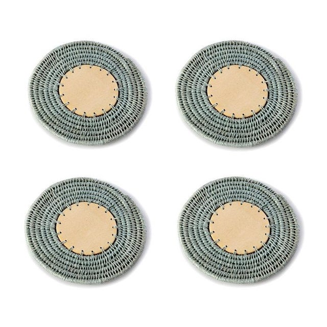 Boho Chic Round Coasters Pool - Set of 4 For Sale - Image 3 of 3