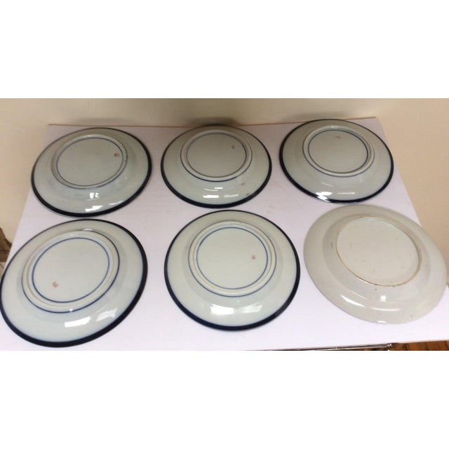 French Chinese Export Style Armorial Plates - Set of 6 For Sale - Image 9 of 9