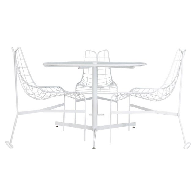 """1985 Vladimir Kagan """"Capricorn"""" Outdoor Dining Chairs and Table, Restored For Sale - Image 9 of 9"""