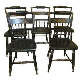 Vintage L Hitchcock Authentic Dining Chairs - Set of 5
