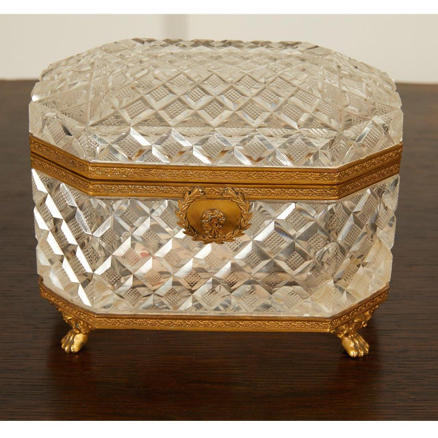 French Crystal Casket Box For Sale In Los Angeles - Image 6 of 8