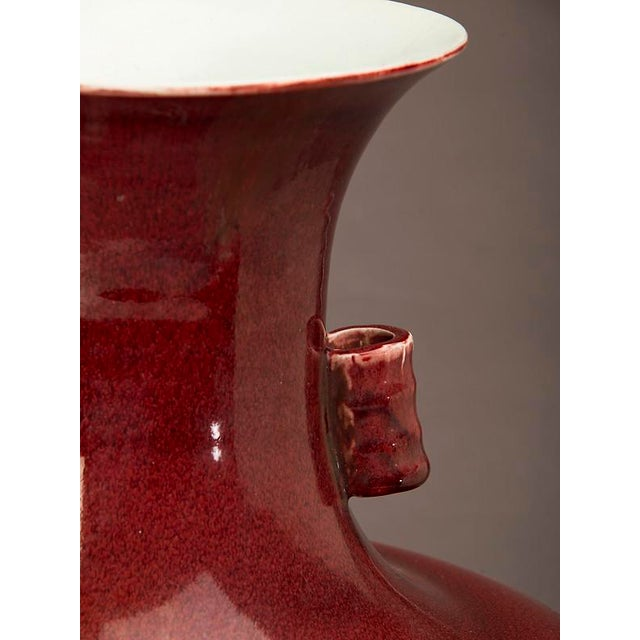 2000 - 2009 An elegantly shaped large oxblood vase from China For Sale - Image 5 of 5