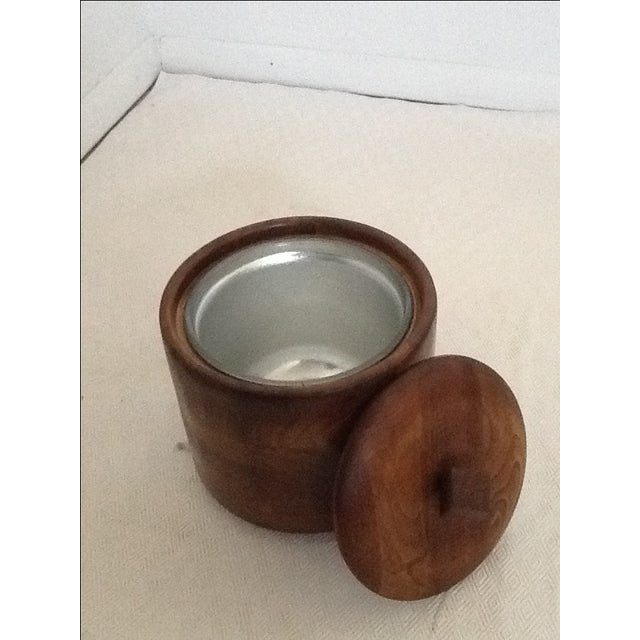 Mid-Century Wood Ice Bucket For Sale - Image 5 of 5