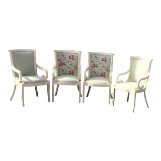 1960s Vintage Inlay Bone Chairs- Set of 4 For Sale