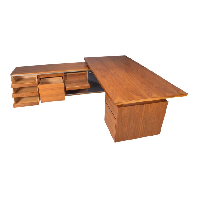 Executive L-Shaped Desk Unit by George Nelson for Herman Miller For Sale