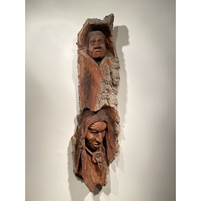 1980s 1980s Wood Carving by Art Oliver For Sale - Image 5 of 5
