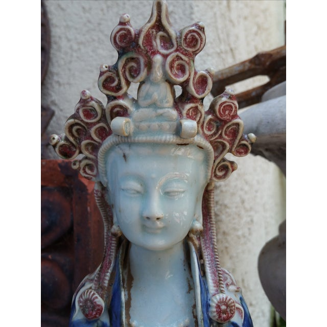 Chinese Porcelain Quan Yin Statue - Image 5 of 6