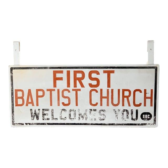Vintage Church Sign For Sale
