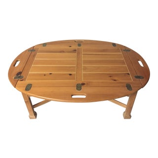 Pine Reproduction Coffee Table For Sale