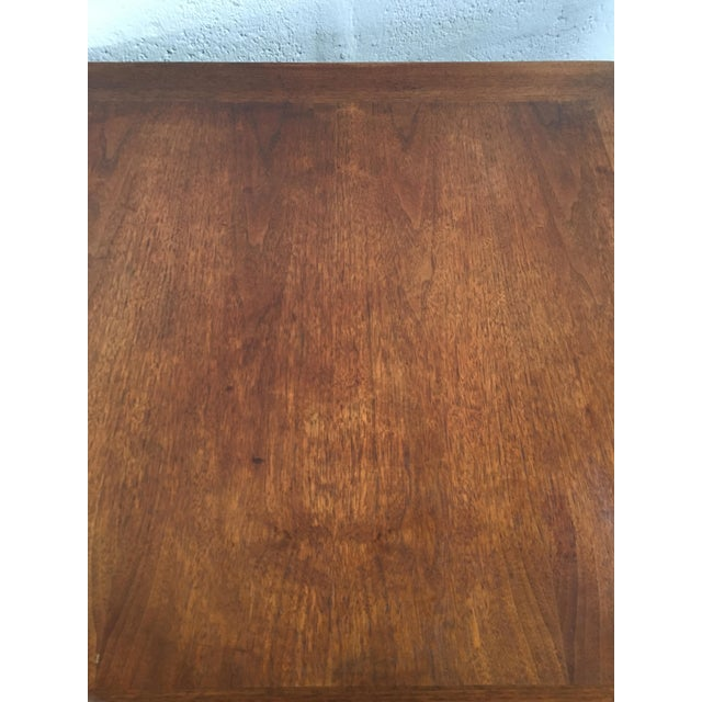 Brown Mid-Century Modern Side Table With Caned Doors . For Sale - Image 8 of 11