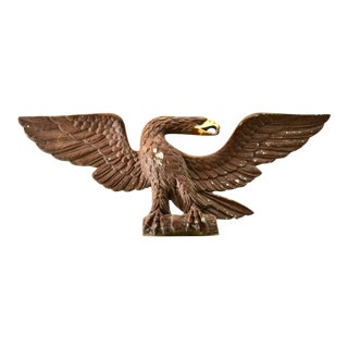 Vintage Metal Federal Wall Eagle For Sale