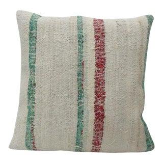Striped Turkish Rag Kilim Pillow For Sale
