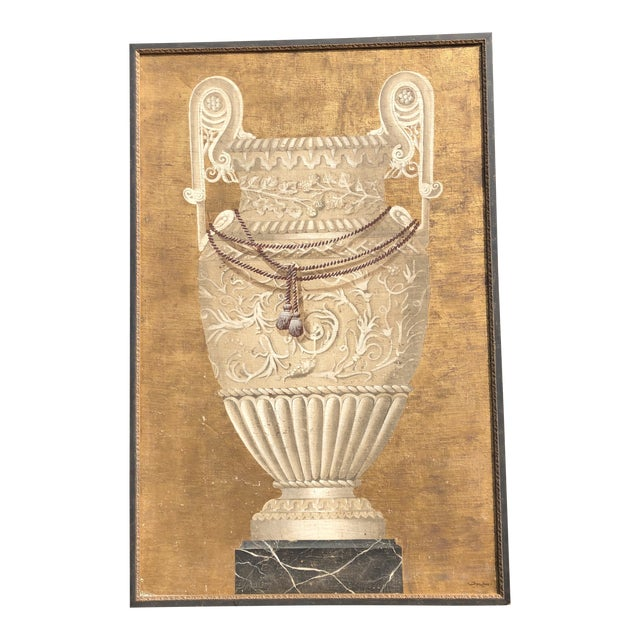 Large Jacques Lamy Urn Painting For Sale
