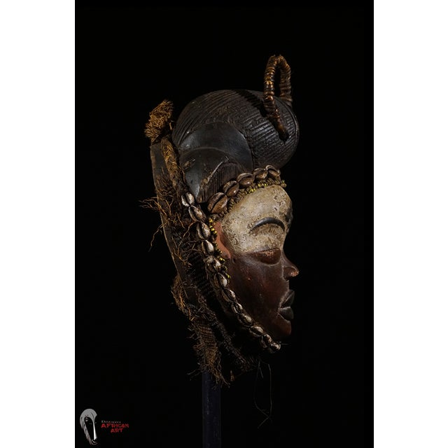 Punu African Tribal Mask from Gabon - Image 6 of 8