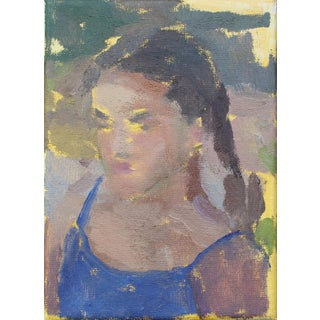 Michelle Farro Oil Portrait Painting For Sale