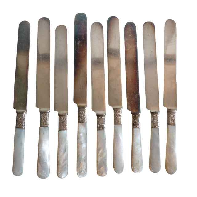 Mother-of-Pearl Handle Knives - Set of 9 - Image 1 of 6
