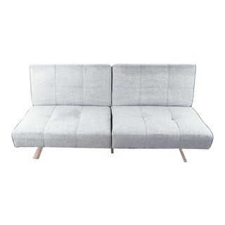 Contemporary Gray Upholstered Convertible Sofa