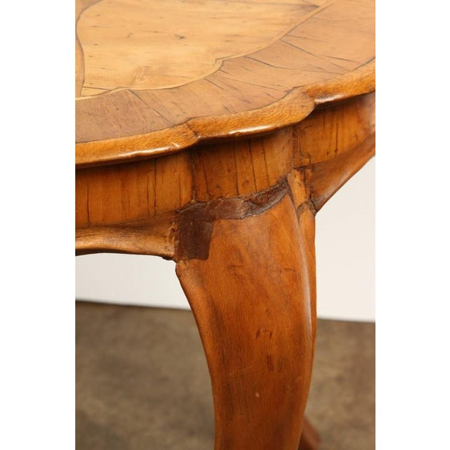 Danish Walnut Inlaid Side Table For Sale In Los Angeles - Image 6 of 8