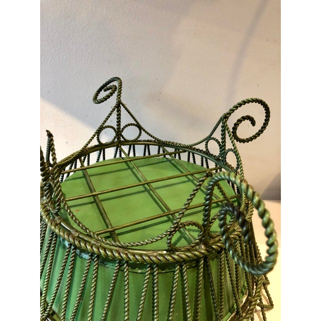 1940s French Wrought Iron Footed Planter For Sale - Image 5 of 7
