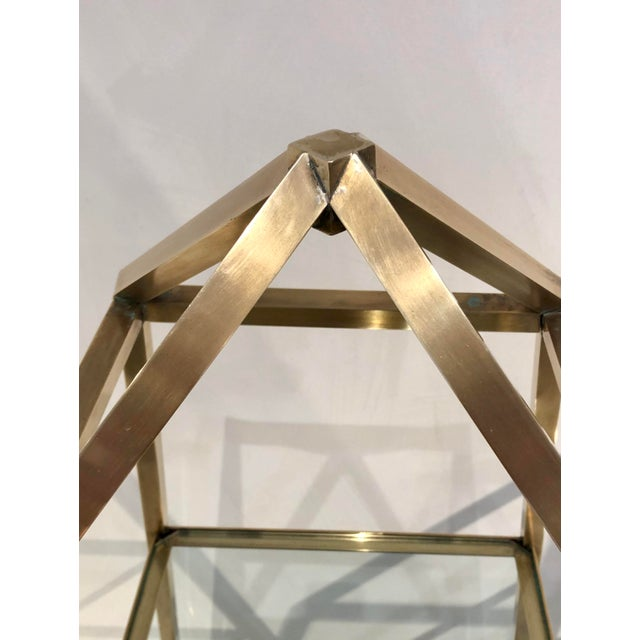 1960s Brass Italian Obelisk Shaped Etageres - a Pair For Sale - Image 4 of 12