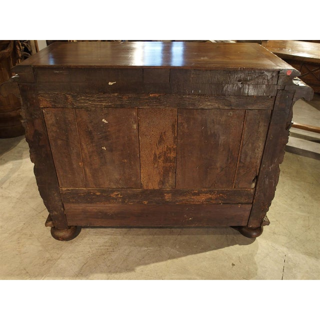 French Walnut Wood Renaissance Buffet For Sale - Image 10 of 11