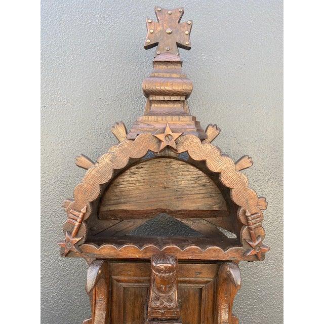 19th C. European Folk Art Sculpture /Dispenser.