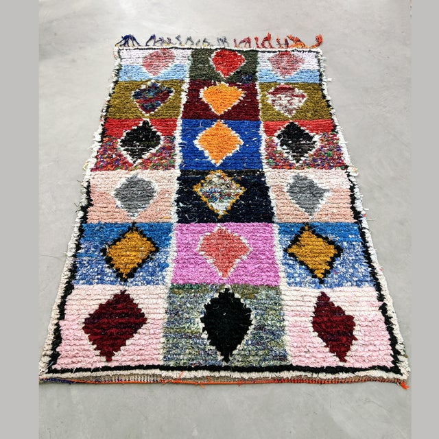 Black Vintage Moroccan Boucherouite Rug For Sale - Image 8 of 8