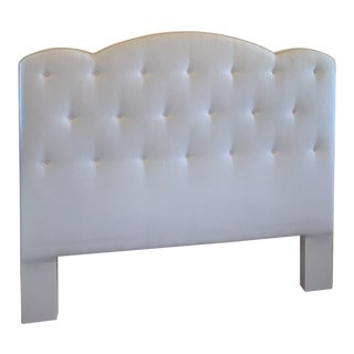 Custom Upholstered Queen Headboard For Sale