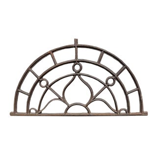 Original Salvaged Iron Transom For Sale