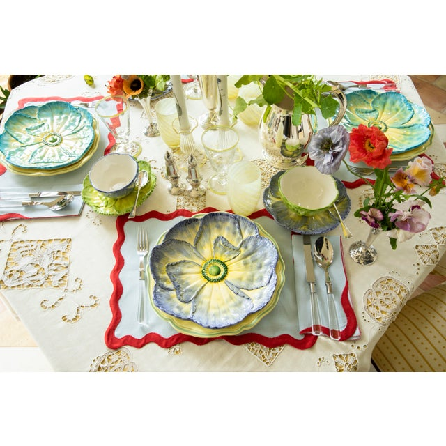 Moda Domus x Chairish Exclusive Dessert Plates in Blue, Purple, and Green - Set of 6 For Sale - Image 10 of 11