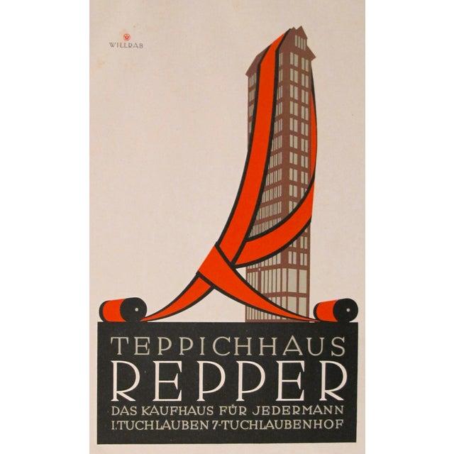 1923 German Design Poster, Repper Carpets - Image 2 of 3