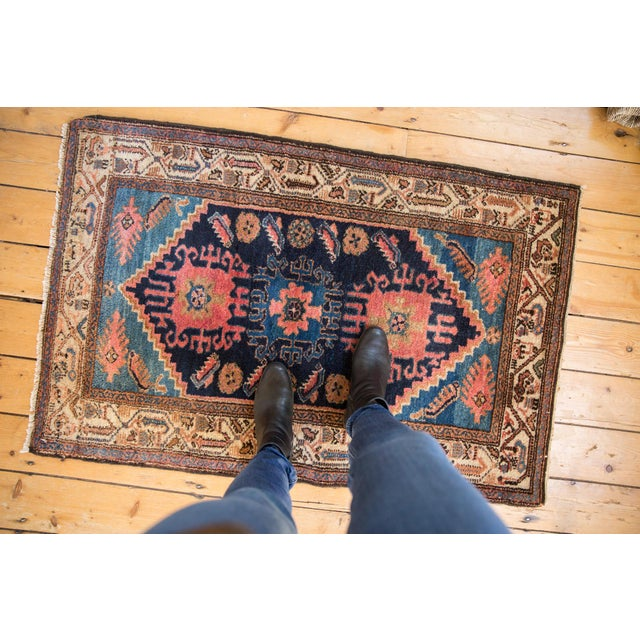 "Textile Vintage Fine Hamadan Rug - 2'10"" X 4'4"" For Sale - Image 7 of 9"
