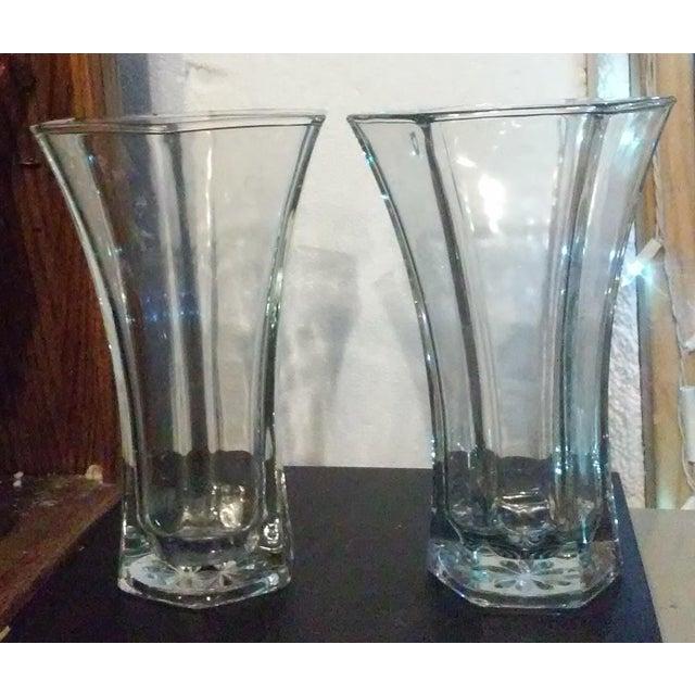 Vintage Hoosier Glass 4041 Vases A Pair Chairish