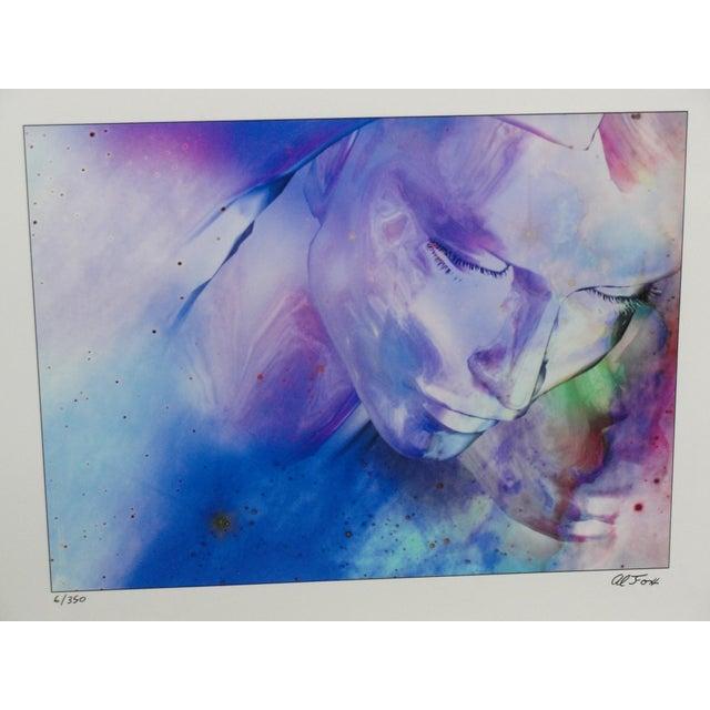 "Impressionism Al Foxx Impressionist Limited Edition ""Woman"" Print For Sale - Image 3 of 8"