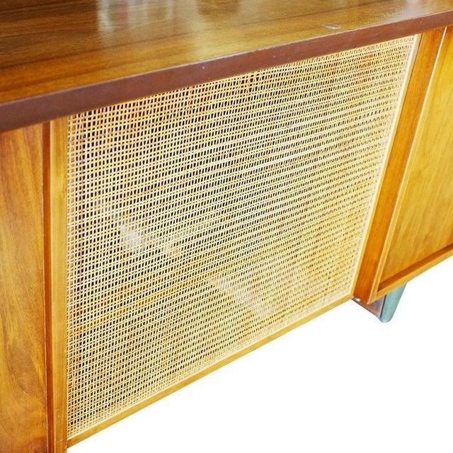 Mid-Century Mahogany Executive Desk With Brass Pulls - Image 8 of 10
