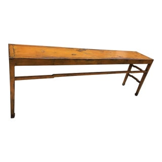 20th Century Asian Modern Distressed Gold Console Table For Sale